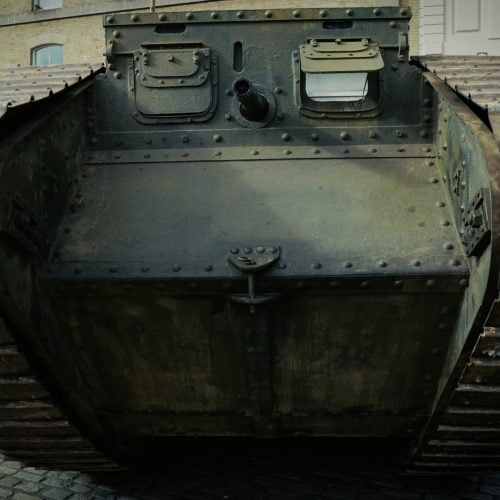 Mark IV Tank in Hitchin Town